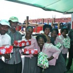 Home Base Carers receive their gifts