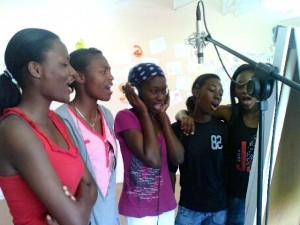 Singers at Bloubergrant High School
