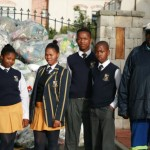 Inkwenkwezi visit Elkanah recycling morning