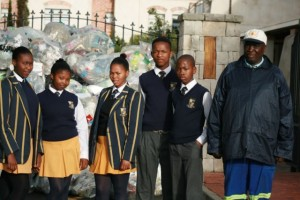 Inkwenkwezi visit Elkanah's recycling morning