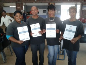 Wesbank volunteers certificates